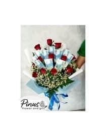 Tanaman - Money Red Rose Bouquet