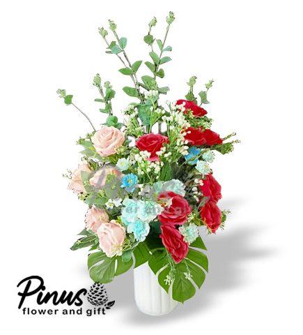 Bunga Artificial Surabaya - Pink Promise Medium Artificial