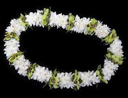 Bunga Ucapan Selamat - White Garland