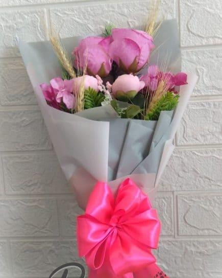Home Hand Bouquet - Blushy Pink Bouquet