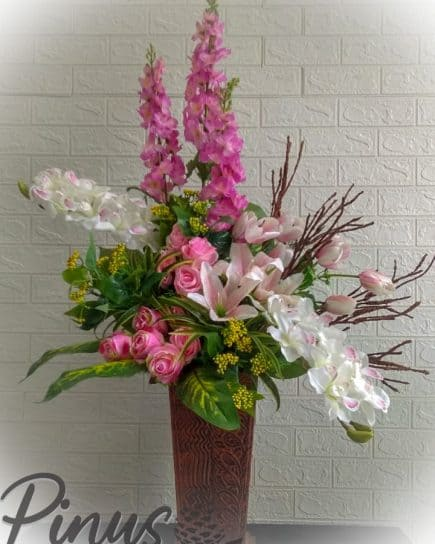bunga meja rangka snapdragon ungu
