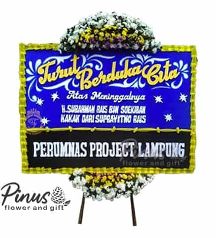 Home Bunga Papan - Condolences Blue