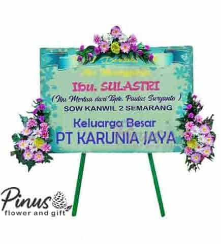 Home Bunga Papan - Condolences Pink