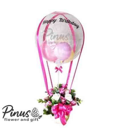 Bunga Ucapan Selamat - Pink Balloon Flower