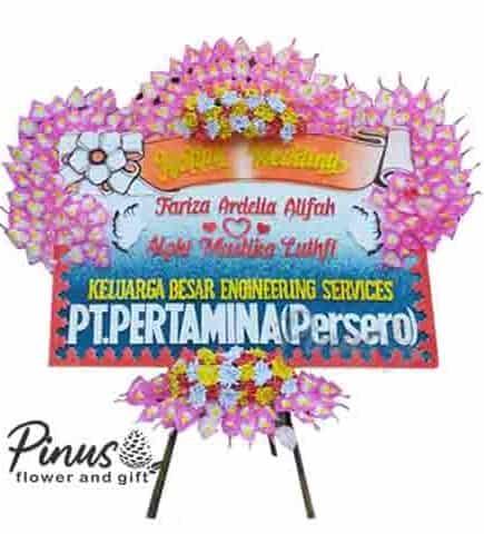 Bunga Papan - Beautiful Life Pink