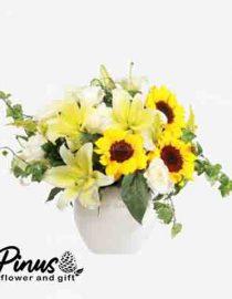 Home Bunga Meja - Yellow Perfect