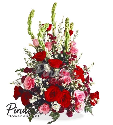 Bunga Meja Surabaya - Blush Rose in vase